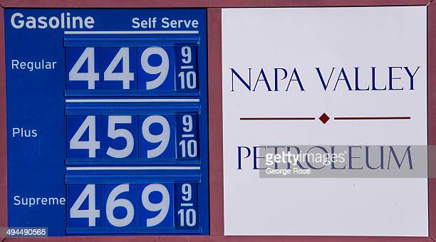 Automoblie gas prices appear to be on the rise in Napa Valley on April 30 in St. Helena, California. Heavy rains in February rains filled most...