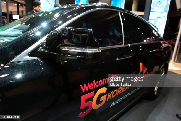 Autonomous car with Sk Telecom 5G Korea during the Mobile World Congress the world's biggest mobile fair on February 27 2018 in Barcelona The Mobile...