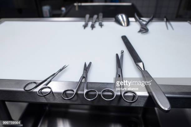 Autopsy instruments can be seen at the Institute for Forensic Medicine in Duesseldorf Germany 8 September 2017 Some 18000 judicial autopsies are...
