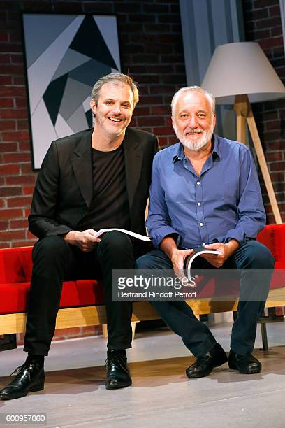 "Autor and actor of the play Clement Gayet and actor of the play Francois Berleand attend the ""Moi, moi et Francois B. "" : Theater Play Presentation..."