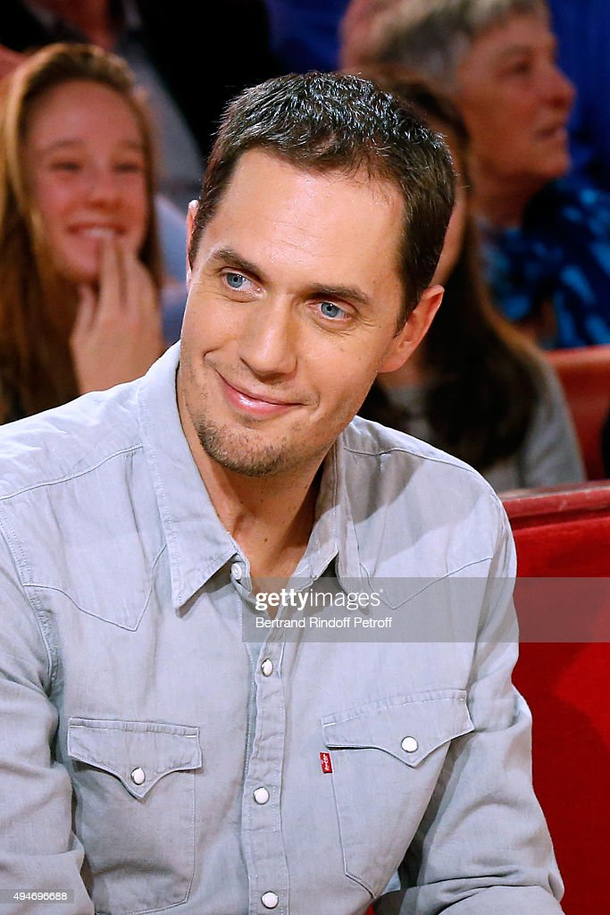 Autor Grand Corps Malade presents his new Album 'Il nous restera ca' during the 'Vivement Dimanche' French TV Show at Pavillon Gabriel on October 28, 2015 in Paris, France.
