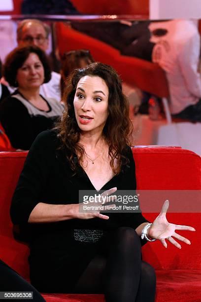 Autor of the Piece Isabelle Le Nouvel presents the Theater Play Le Syndrome de l'Ecossais performed at 'Theatre des Nouveautes' during the 'Vivement...
