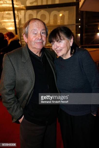 Autor of the Piece JeanClaude Grumberg and his wife Jacqueline Grumberg attend the 'L'Etre ou pas' Theater Play as part of the 'Citizens' Words...