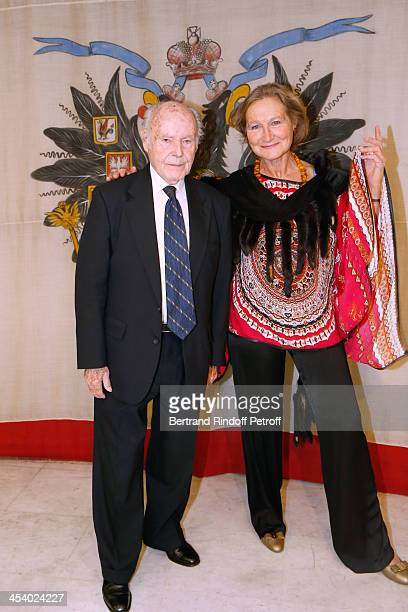 Autor Rene de Obaldia and Lyvia Rolland attending the celebration of 26 Years of Russian French Friendship by the 'Association of the Saint Vladimir'...