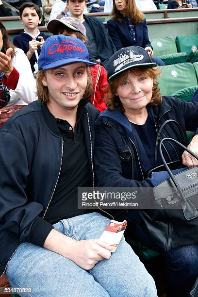 Autor Sacha Sperling and director Diane Kurys attend Day Seven of the 2016 French Tennis Open at Roland Garros on May 28 2016 in Paris France