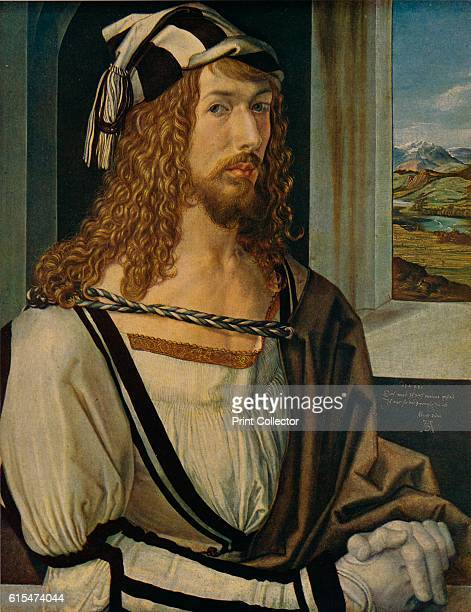 Autorretrato' Selfportrait is the second of Albrecht Durer's three painted selfportraits Durer elevates himself to the social position he believed...