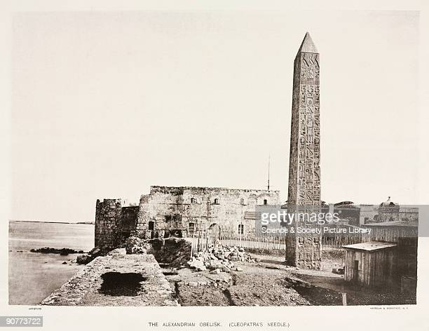 Autotype by Harroun Bierstadt from 'Egyptian Obelisks' by Henry H Gorringe The obelisk was erected by Thutmose III at Heliopolis in about 1460 BC...