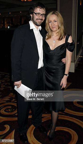 Autrhor JK Rowling and husband Neil Murray pose at the British Book Awards at Grosvenor House March 29 2006 in London England The literary awards...