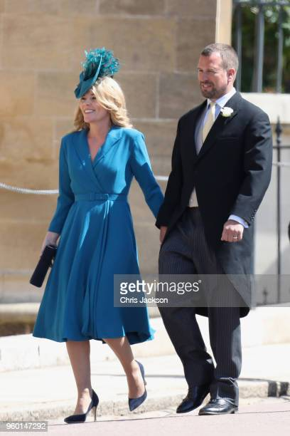 Autumn and Peter Phillips attend the wedding of Prince Harry to Ms Meghan Markle at St George's Chapel Windsor Castle on May 19 2018 in Windsor...