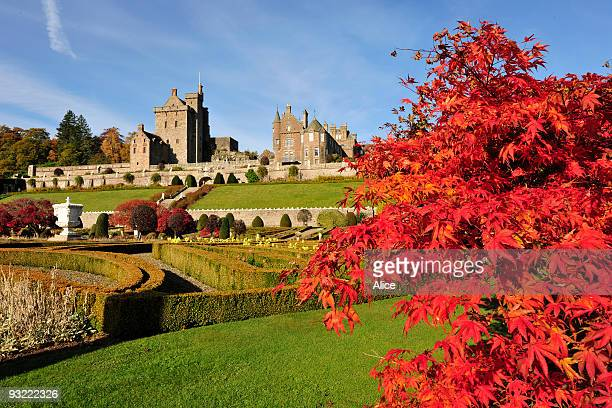 autumn at drummond castle gardens - crieff stock pictures, royalty-free photos & images