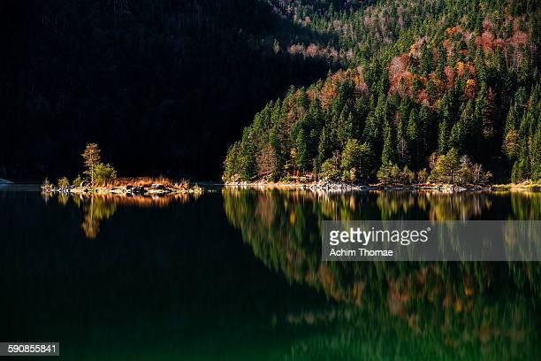 Autumn at Lake Eibsee Bavaria