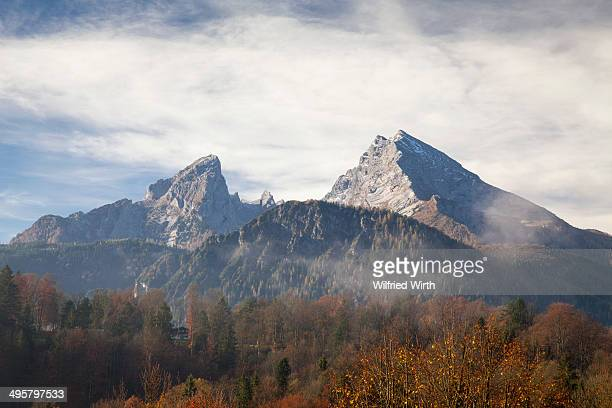 Autumn at Mt Watzmann, Berchtesgaden, Berchtesgadener Land district, Upper Bavaria, Bavaria, Germany