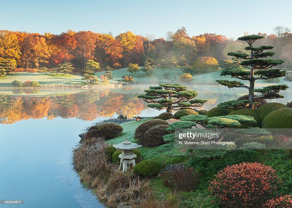 Autumn at the Chicago Botanic Garden : Stock Photo