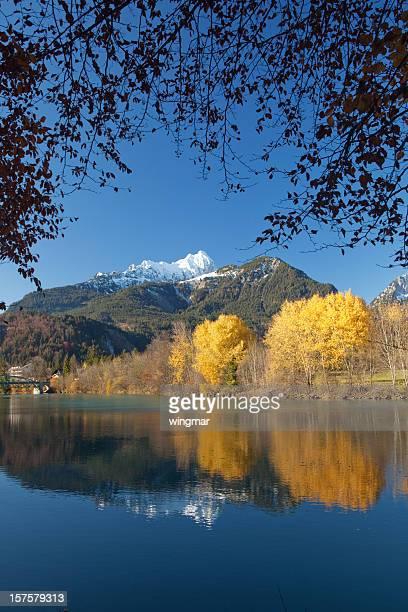 autumn at the river lech in tirol -austria
