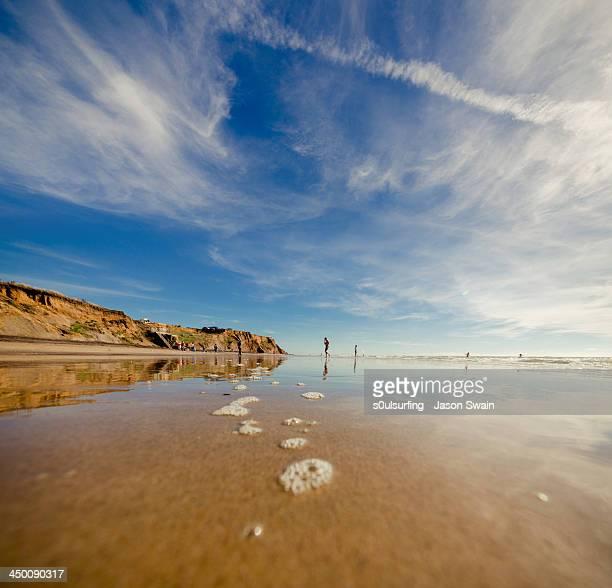 autumn beach scene - s0ulsurfing fotografías e imágenes de stock