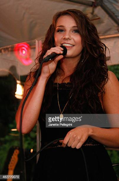 Autumn Blair performs at Livestage Summer Splash For the Love of Music Launch Event on July 26 2014 in East Hampton New York