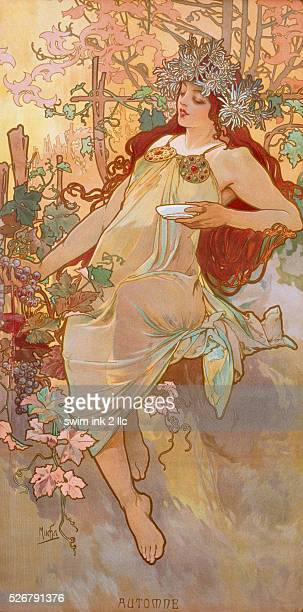 Autumn by Alphonse Marie Mucha