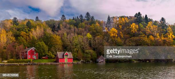 autumn by the sea - hordaland county stock pictures, royalty-free photos & images