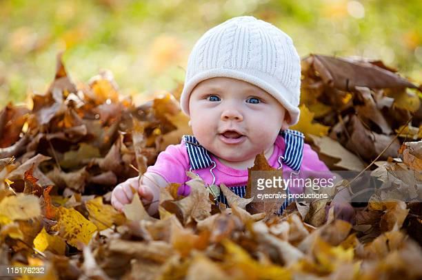 秋の子供の写真