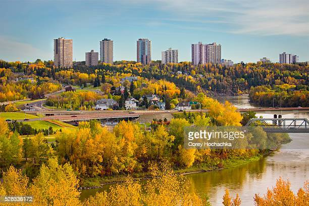 Autumn city skyline, Edmonton, Alberta, Canada