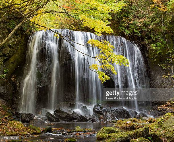 Autumn colored waterfall