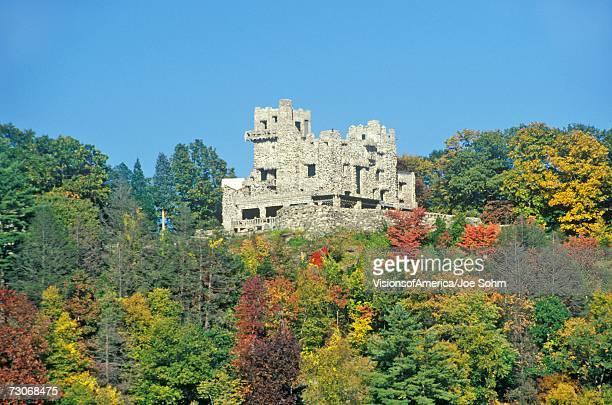 """autumn colors at gillette castle state park, east haddam, connecticut"" - state park stock pictures, royalty-free photos & images"