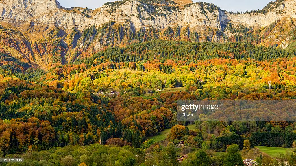Autumn Colors In French Alps, Haute-Savoie : Photo