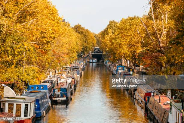 Autumn colours in Little Venice, London, UK