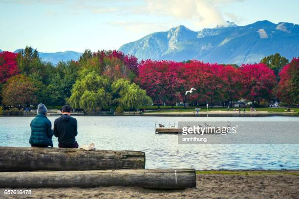 autumn colours in vancouver - vancouver canada stock pictures, royalty-free photos & images