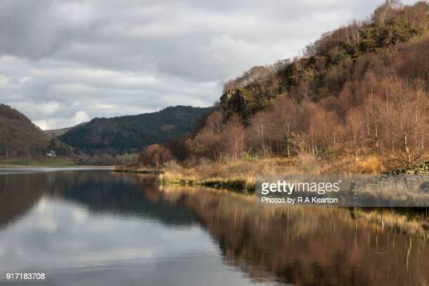 Autumn day at Llyn Dinas, Snowdonia national park, Wales