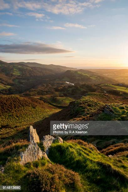 Autumn evening in the hills of Snowdonia, North Wales