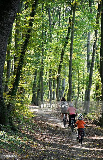Autumn Family  Bike Riding