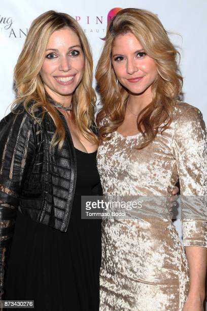 Autumn Federici and Brittany Underwood attend the Premiere Of MarVista Entertainment's Wedding Wonderland on November 12 2017 in Los Angeles...