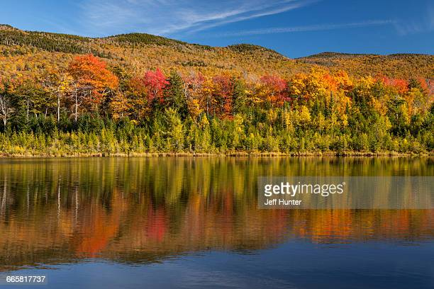 Autumn foliage and lake, Vermont, New England