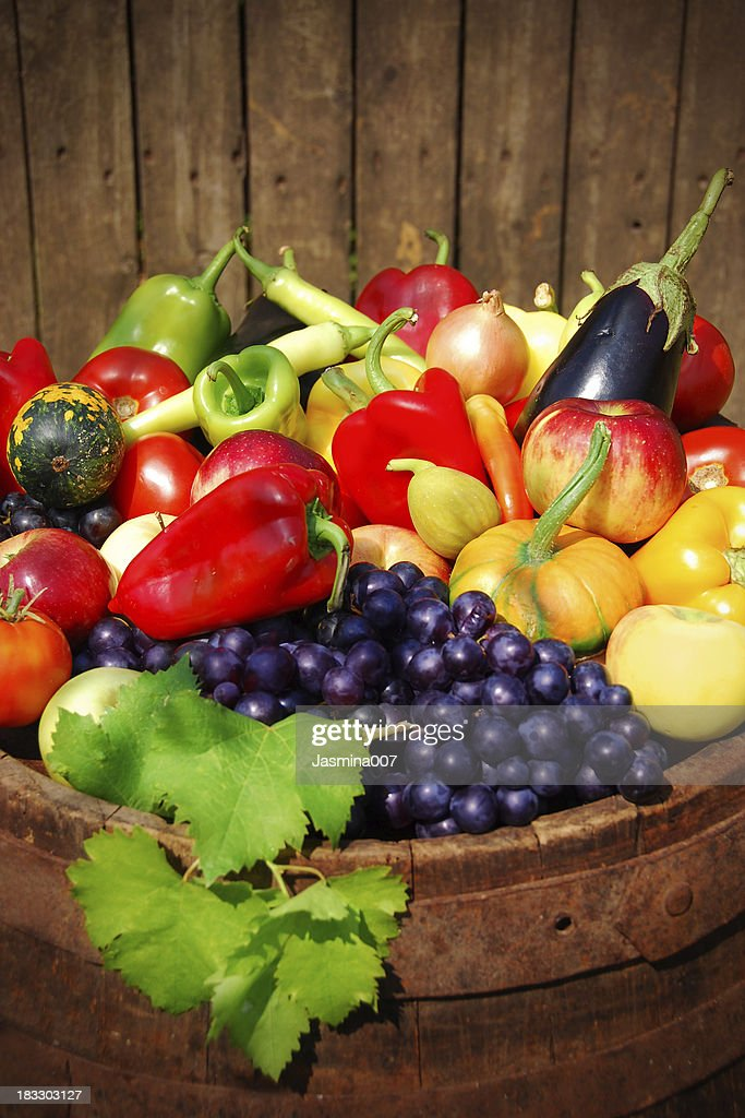 Autumn fruit and vegetables : Stock Photo