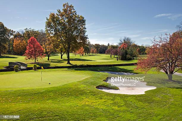 autumn golf in new jersey - new jersey stock pictures, royalty-free photos & images
