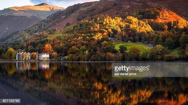 autumn, grasmere, lake district, cumbria, england - lake district stockfoto's en -beelden
