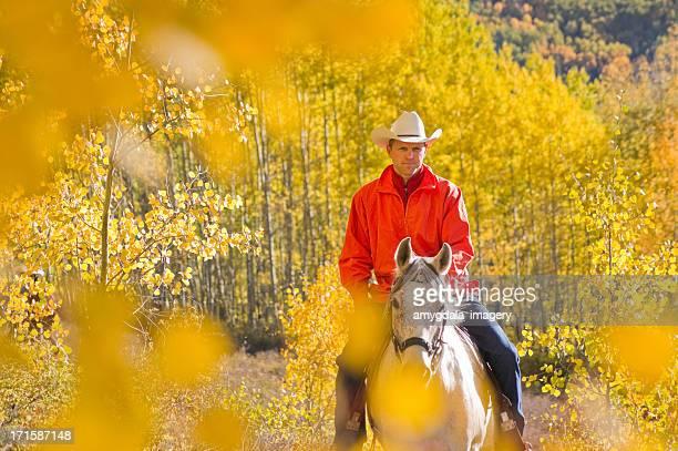 秋の乗馬の風景