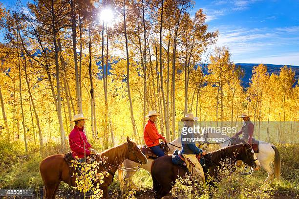 autumn horseback riding