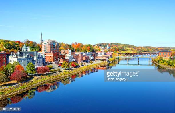 autumn in augusta maine - augusta maine stock pictures, royalty-free photos & images