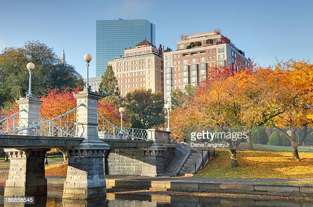 autumn in boston - boston common stock pictures, royalty-free photos & images