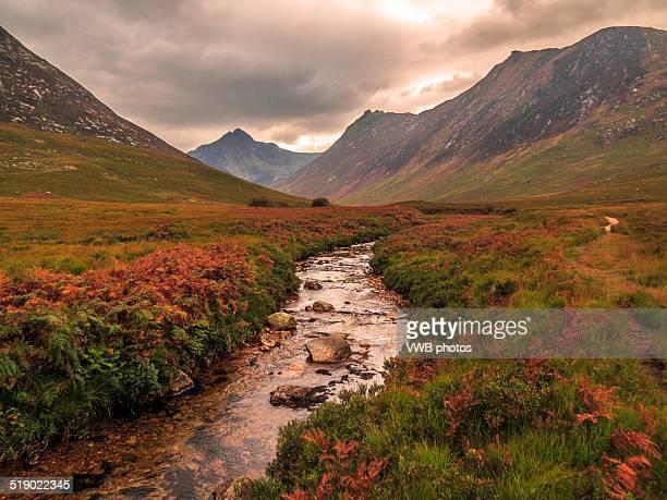 Autumn in Glen Sannox, Arran, Scotland.