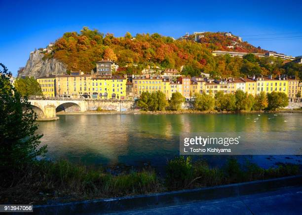autumn in grenoble, france - グルノーブル ストックフォトと画像