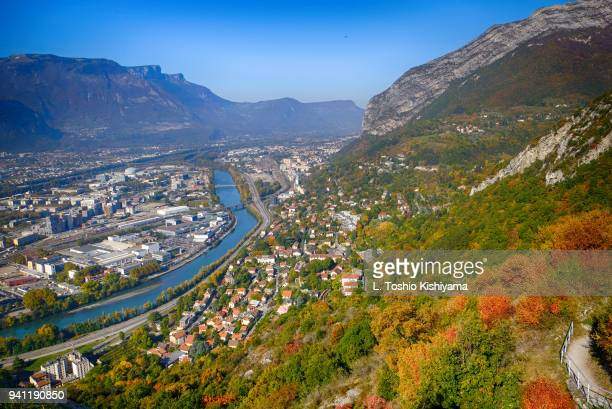 autumn in grenoble, france - auvergne rhône alpes stock pictures, royalty-free photos & images