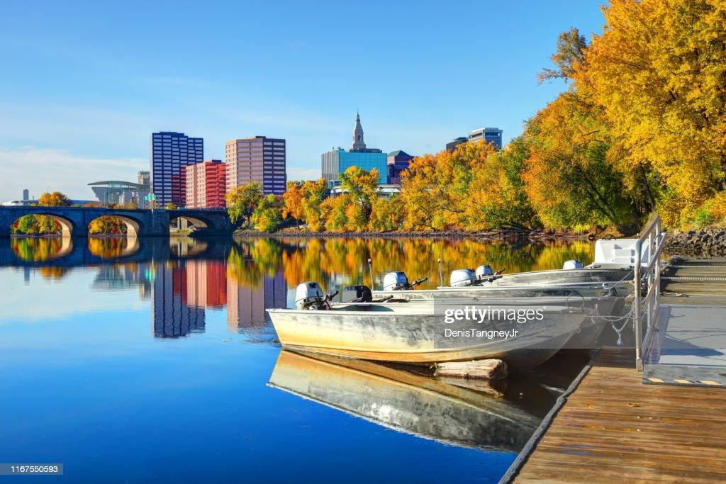 コネチカット州ハートフォードの秋 : ストックフォト