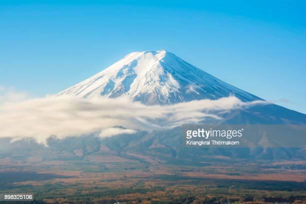 Autumn in Japan: View of Mt. Fuji.
