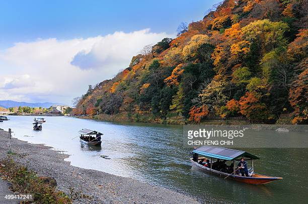 CONTENT] Autumn in Katsura river Arashiyama Kyoto Japan