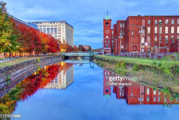 autumn in lawrence, massachusetts - lawrence massachusetts stock photos and pictures