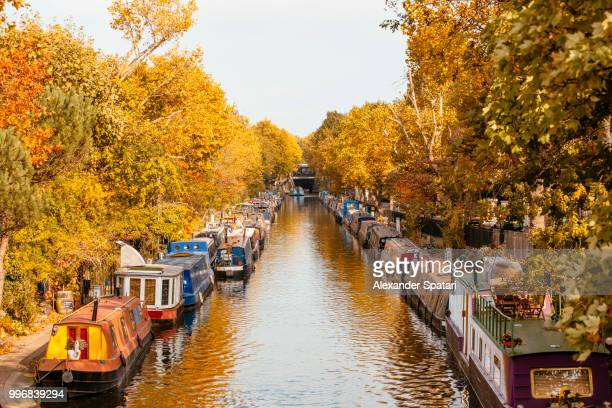 autumn in little venice, london, uk - october stock pictures, royalty-free photos & images