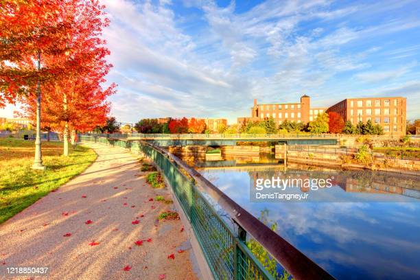 autumn in lowell, massachusetts - lowell massachusetts stock pictures, royalty-free photos & images